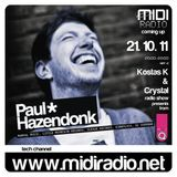 Paul Hazendonk guest mix for Midi Radio Greece 21.10.2011