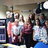 Zara & Liam meet the children from Truro Methodist Group