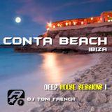Conta Beach Deep Session 1 - dj toni french  live mix