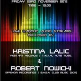 Tapasbar Belgrade presents Robert Nowicki - Live mix recorded on 23rd November 2012