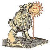 Lion devouring the sun