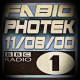 FABIO & PHOTEK @ RADIO 1 - 11/08/00