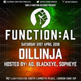 Function:AL April 2018 @ Lightbox - Dillinja - Hosted by Sopheye and Blackeye MC