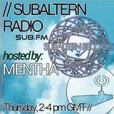 Mentha - Subaltern Radio 21/01/2016 on SUB.FM