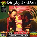 Binghy i-man Alongside Rajah T Amahoro Sound