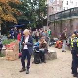 eXtinction Rebellion in het Vondelpark, dinsdag 8 oktober 2019