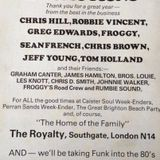 Froggy,Sean French,Chris Brown & Robbie Vincent Live at the Royalty 31st December 1979 Part 1