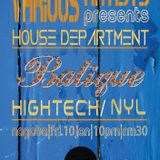 Batique (Hightech & Nyl) Part 1 @ House Department Various Artists,Nagaba (10-01-14)