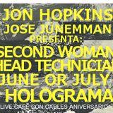 CAMPO ELÉCTRICO // JON HOPKINS+ JOSE JUNEMMAN + SECONDWOMAN+HEADTECHNICIAN+HOLOGRAMA LIVE CAFÉ CON C