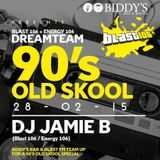 Jamie B's DreamTeam 90's Old Skool Night 3Hr Live Set @ Biddy's Bar & Bistro 28.02.2015