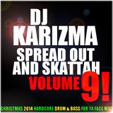 DJ KARIZMA - SPREAD OUT AND SKATTAH VOL 9! (CHRISTMAS 2014 HARDCORE DRUM & BASS FOR YA FACE MIX!)