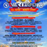 VERTIGO WARM UP 12 TO 2 TWILIGHT AND TRICKY D FLEX FM JULY 24 2016
