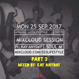 Mixcloud Session Part 3 (25 Sep 2017). Mixed by Kay Anyday