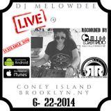 DJ Melowdee Live @ Coney Island NYC 6 22 2014
