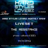 The Resistance - Hard Styles Loverz Monthly Show - Hardstyle.nu - Saturday 01 November 2014