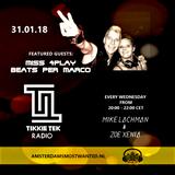 Miss4Play & Beatz Per Marco at Tikkie Tek Radio on AMW.FM (31.01.2018)