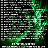 DJ Pieter Joosten - Mixellanous Mix From 70's to 2000's  (Section Party Mixes)