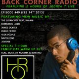 BACK CORNER RADIO: Episode #49 (Feb 14th 2013)