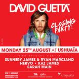 David Guetta @ Guetta College Closing Party, Ushuaia Ibiza 25-08-2014