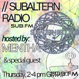 Mentha b2b D-Operation Drop + Desire Guestmix - Subaltern Radio 07/01/16 SUB.FM