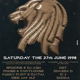 Footloose b2b DJ Probe & MCs Shabba D & IC3 @ JUNGLE FEVER 27.06.1998 Bierhübeli Berne