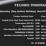 Recorded DJ Mix By CHiE Nakajima @ Techno Mimimal & Free 2016.02.12