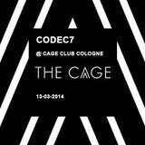 codec7 @cage club cologne 13-03-2014