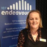 Stu chats with Linda Sanderson from the Butterfly Hospice