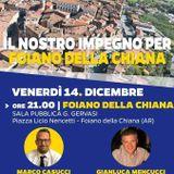 RADIO EFFE    Casucci-Mencucci venerdì a Foiano l'assemblea Lega-Progetto Foiano