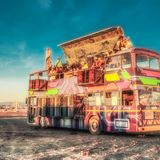 Ledhedz Reflections Party bus at Afrika Burns