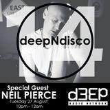 deepNdisco with Neil Pierce (Rhemi Music/Deep Into Soul) Episode 14 - 27/08/2019