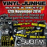 Vinyl Junkie - The Bass 'n' Beats Show - Sub.FM - 12/11/2014 - ft. Gold Dubs Artist Showcase