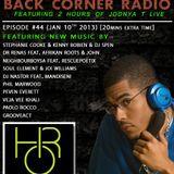 BACK CORNER RADIO: Episode #44 (Jan 10th 2013)