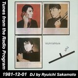 Tunes from the Radio Program, DJ by Ryuichi Sakamoto, 1981-12-01 (2015 Compile)