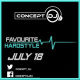 Concept - Favourite Hardstyle July 18 (29-07-2018)