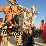 across the playa with my loves ~ BM 2014 )*(