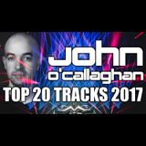John O'Callaghan Top 20 Tracks of 2017