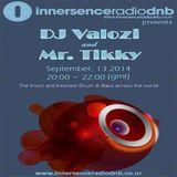 DJ Valozi and Mr. Tikky at Innersence Radio DNB - 13.09.2014
