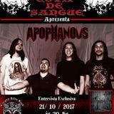 Programa Cova de Sangue - #31 - Entrevista com a banda Apophanous (21.10.2017)