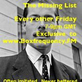 The Missing List July 12th 2013 with Lucan?