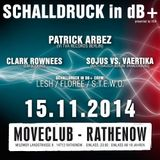Patrick Arbez Live @ Schalldruck 15.11.14