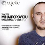 Cyclic Podcast Episode Nr 1 - Mihai Popoviciu - 20.04.2011