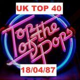 UK TOP 40 : 18th APRIL 1987