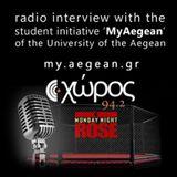 Xoros94.2 radio - interview about MyAegean - 11-11-13