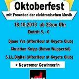 Frank Tastik & S.I.L.Digital @Oktoberfest mit Freunden der elektronischen Musik-Koyote Club 18.10.13