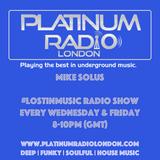 Solus - #LostinMusic Radio Show LIVE @ PlatinumRadioLondon.com - 7.8.15