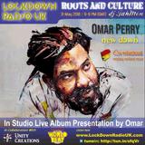Omar Perry present his new album NEW DAWN live in the RAC studio
