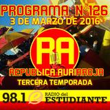 RA. Programa N°126 03-03-2016