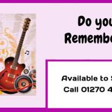 13th July 2015_ Do You Remember Songs From The Classic Sixties.