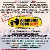 # 188 Arariboia Rock News - 05.12.2018 - Especial Leonardo Giordano